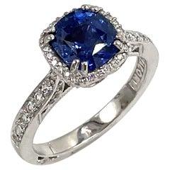 Platinum Tacori Dantela Ring with Sapphire