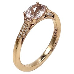 Tacori 18K Rose Gold East-West Ring with Morganite