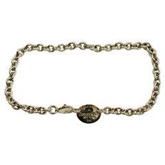 "Tiffany Silver Necklace"" Please Return To Tiffany"" Sterling Silver, Circa 1990"