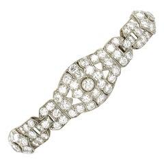 Mid Century Diamond Bracelet in Platinum 950