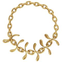 1960s Cartier Woven Gold Oval Link Necklace