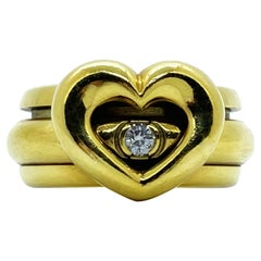 Piaget Possession Heart 18 Karat Yellow Gold Diamond Band Ring