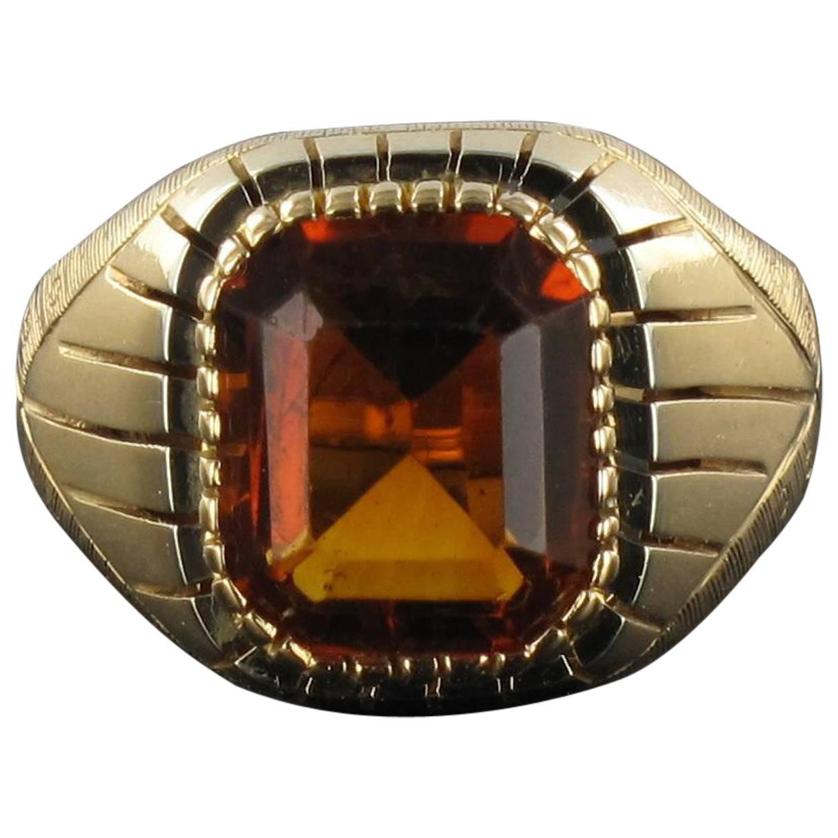 Antique Haematoid Quartz Gold Signet Ring For Sale at 1stdibs