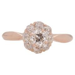 GIA Certified .53 Carat Edwardian Diamond 14 Karat Rose Gold Engagement Ring