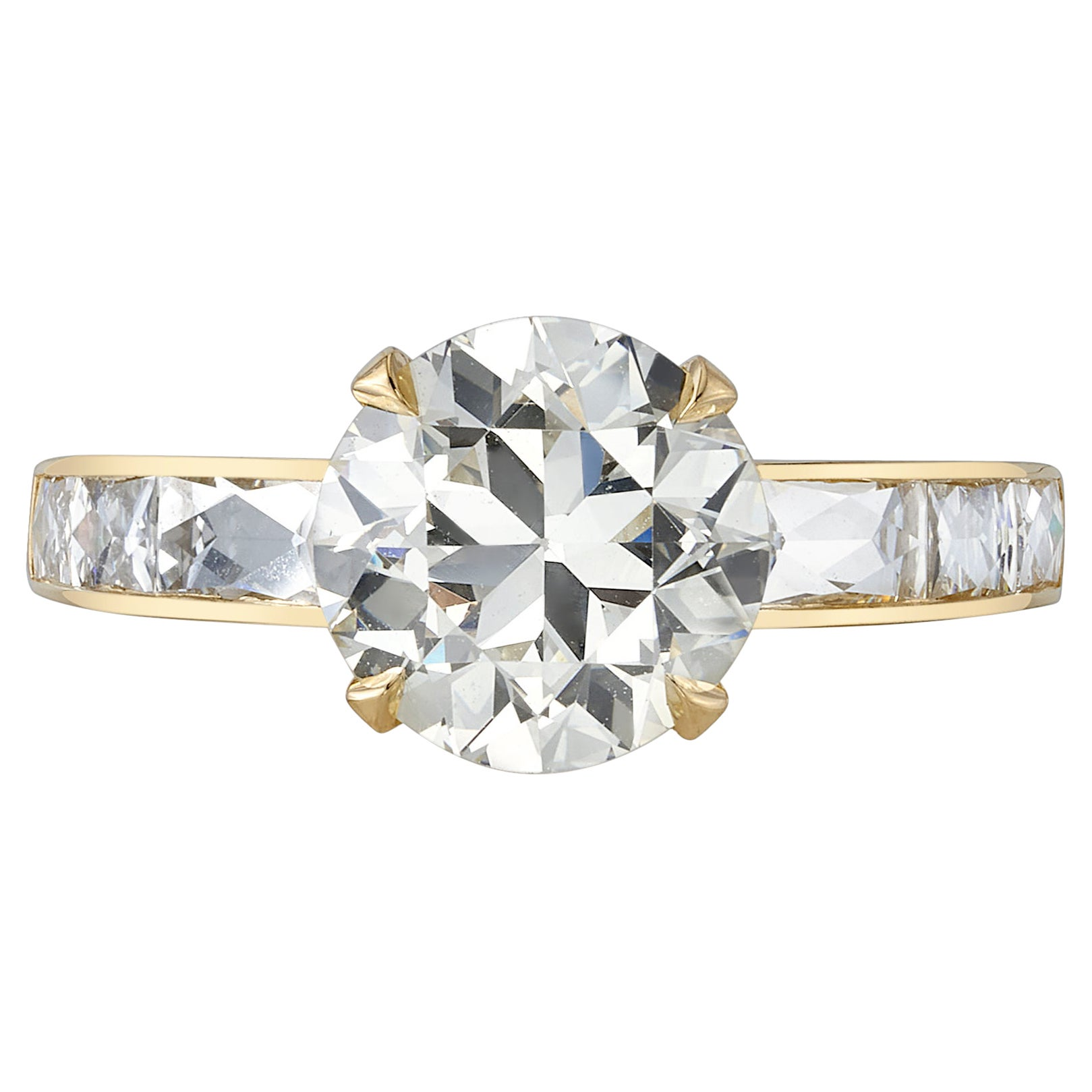 Handcrafted Christina Old European Cut Diamond Ring by Single Stone