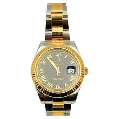 Rolex Two Tone 18k Yellow Gold and Steel Unisex Watch