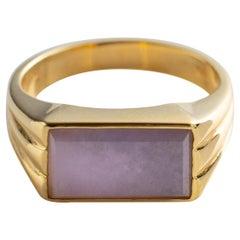 Lavender Jade Ring Certified Untreated