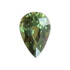 Fine Vivid Green Pear Cut Untreated Sapphire 0.92ct Australian Gem