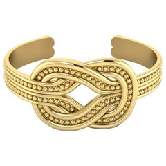 22 Karat Gold Cuff Bracelet by Romae Jewelry Inspired by Ancient Designs