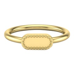 22 Karat Gold Cartouche Ring by Romae Jewelry Inspired by Ancient Roman Designs