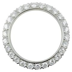 1960s Diamond Platinum Circle Brooch