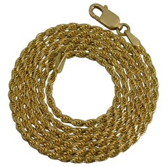 Quality 18 Carat Gold Rope Twist Link Chain Necklace
