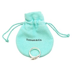 Tiffany & Co. Elsa Peretti Sterling Silver Teardrop Ring with Pouch