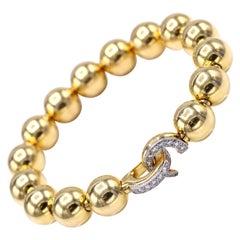Cartier Paris 1960s Diamond 18 Karat Gold Bangle Bracelet