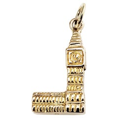 10 Karat Yellow Gold Big Ben Clock and Tower Charm