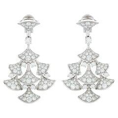 Bulgari Diva's Dream Diamond Chandelier Earrings in 18k White Gold