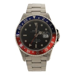 Rolex Oyster Perpetual Date GMT-Master Pepsi Automatic Watch Stainless Steel 40