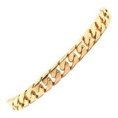 18 Karat Yellow Gold Cuban Link Bracelet