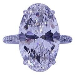 David Rosenberg 7.66 Carat Oval G VS2 GIA Diamond Engagement Wedding Ring