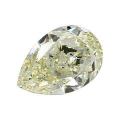 GIA Certified 4.01 Carat Pear Yellow Diamond
