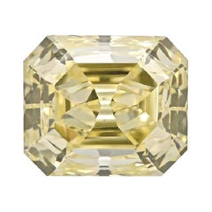 GIA Certified 3 Carat Radiant Fancy Yellow Diamond