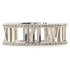 Tiffany & Co. Atlas Open Ring 18K White Gold with Diamond