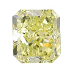 GIA Certified 3.02 Carat Radiant Yellow Diamond