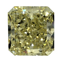 GIA Certified 3.13 Carat Radiant Natural Yellow Diamond