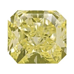 GIA Certified 3.02 Carat Radiant Natural Yellow Diamond