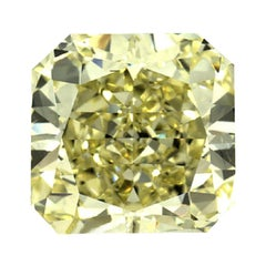 GIA Certified 3.23 Carat Radiant Natural Yellow Diamond