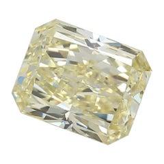GIA Certified 3.03 Carat Radiant Fancy Yellow Diamond