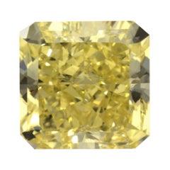 GIA Certified 3.24 Carat Radiant Fancy Yellow Diamond