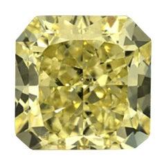 GIA Certified 3.1 Carat Radiant Yellow Diamond