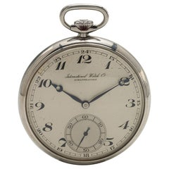 International Watch Co. Stainless Steel Open Face Watch