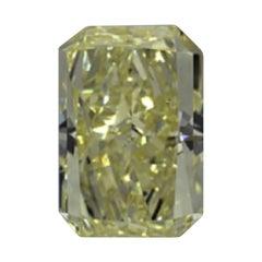 GIA Certified 3.0 Carat Radiant Yellow Diamond