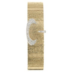 Baume + Mercier .75 Carat Diamond Yellow Gold Covered Ladies Wristwatch