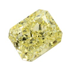 GIA Certified 3.01 Carat Radiant Yellow Diamond