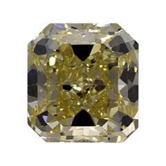 GIA Certified 3.3 Carat Radiant Fancy Yellow Diamond