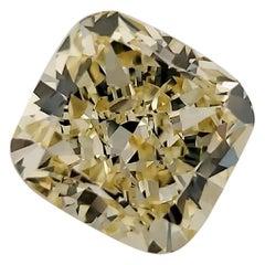 GIA Certified 3.1 Carat Cushion Yellow Diamond