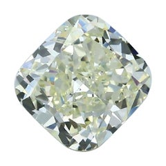 GIA Certified 3.57 Carat Cushion Yellow Diamond
