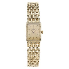 Concord Yellow Gold Ladies Seven Row Panther Wristwatch