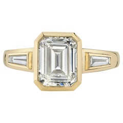 Handcrafted Laurie Emerald Cut Diamond Ring by Single Stone