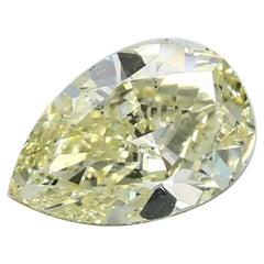 GIA Certified 3.02 Carat Pear Yellow Diamond
