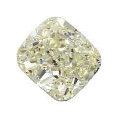 GIA Certified 3.07 Carat Cushion Yellow Diamond