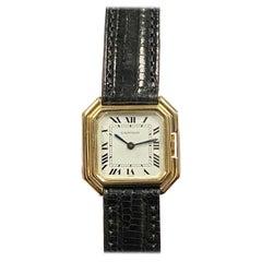 Cartier Paris Centure Vintage Mid Size Yellow Gold Mechanical Wrist Watch