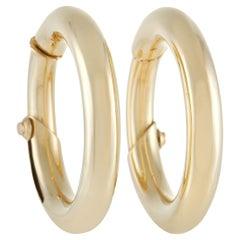 Cartier 18K Yellow Gold Hoop Earrings