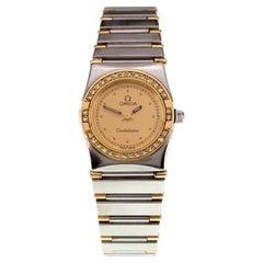 Omega Ladies Mini Constellation Two-Tone Quartz Watch w/ Diamonds