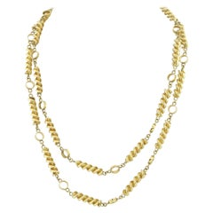 Tiffany & Co. Schlumberger 18K Yellow Gold Stylized Chain Necklace