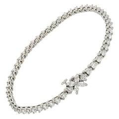 Tiffany & Co Victoria Platinum Diamond Line Bracelet