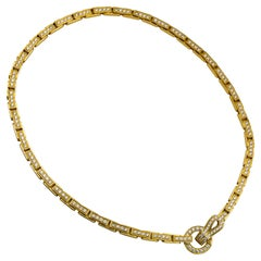 Cartier Agrafe de Cartier Pave Necklace in 18K Yellow Gold